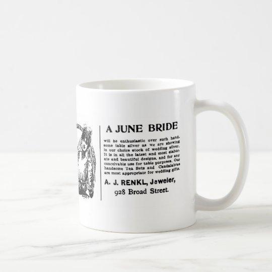 1899 June Bride advertisement Coffee Mug