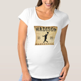 1899 Madison Wisconsin Basketball Maternity T-Shirt