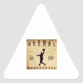 1899 Normal Illinois Basketball Triangle Stickers