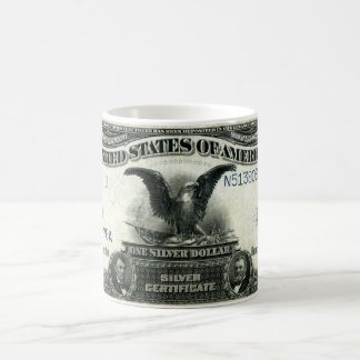 1899 One Dollar US Silver Certificate Coffee Mug