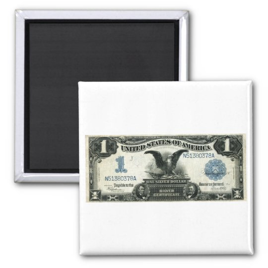 1899 One Dollar US Silver Certificate Magnet