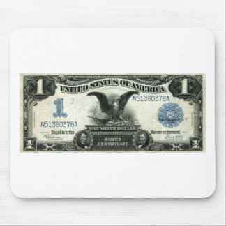 1899 One Dollar US Silver Certificate Mouse Pad