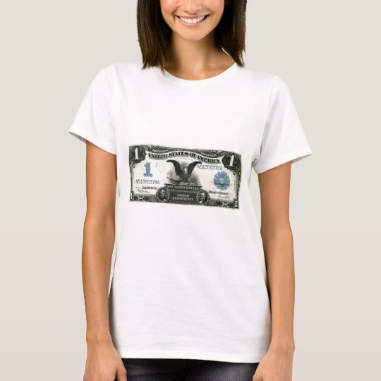 1899 One Dollar US Silver Certificate T-Shirt