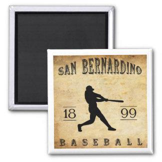 1899 San Bernardino California Baseball 2 Inch Square Magnet