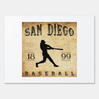 1899 San Diego California Baseball Yard Signs