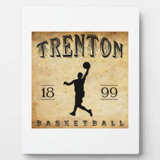 1899 Trenton New Jersey Basketball Display Plaque