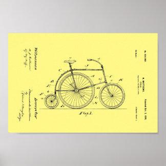 1899 Vintage Bicycle Patent Art Print