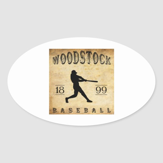 1899 Woodstock Ontario Canada Baseball Oval Sticker