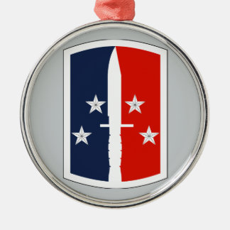 189th Infantry Brigade Round Metal Christmas Ornament