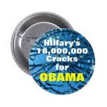 18,000,000 Cracks Pinback Buttons