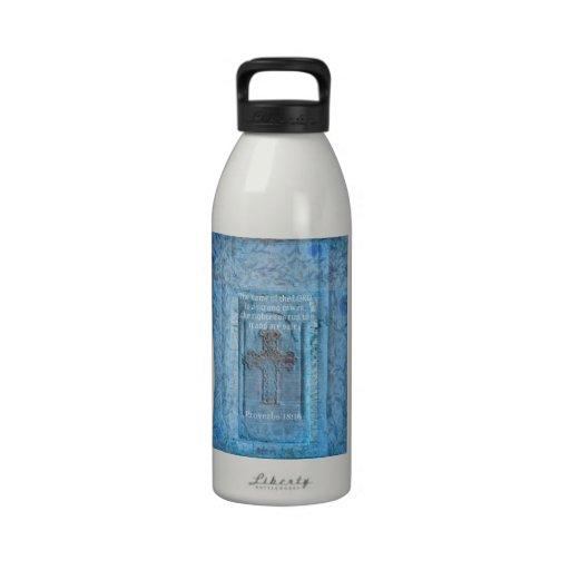 18:10 de los proverbios que anima la CRUZ del vers Botellas De Agua Reutilizables