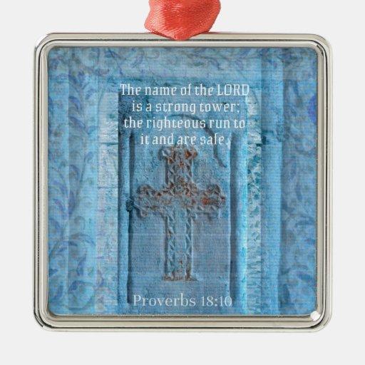 18:10 de los proverbios que anima la CRUZ del vers Adorno
