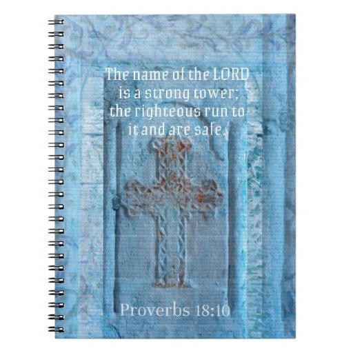 18:10 de los proverbios que anima la CRUZ del vers Libreta