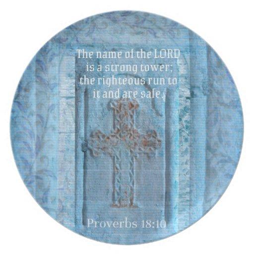 18:10 de los proverbios que anima la CRUZ del vers Plato
