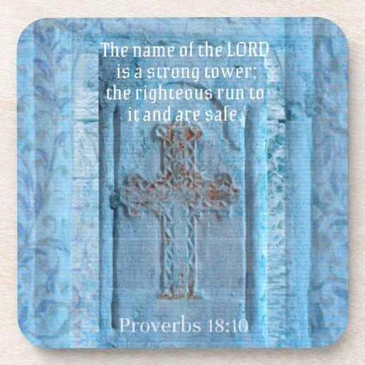 18:10 de los proverbios que anima la CRUZ del vers Posavasos De Bebida