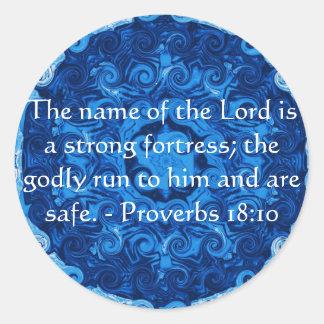 18:10 inspirado de los proverbios del verso de la pegatina redonda