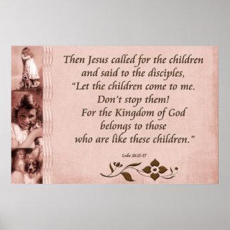 18:15 de Lucas de la escritura del poster cristian