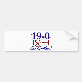 18-1 Go G-Men Bumper Stickers
