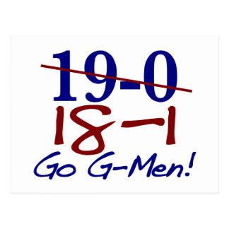 18-1 Go G-Men Postcard