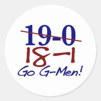 18-1 Go G-Men Round Stickers
