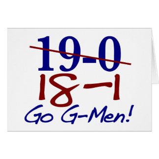 18-1 van los G-Hombres Tarjeta De Felicitación