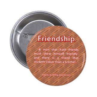 18:24 de los proverbios de la amistad pin redondo de 2 pulgadas