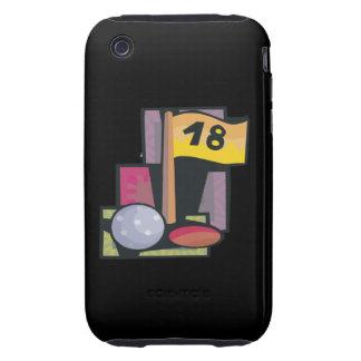 18 agujeros tough iPhone 3 carcasas