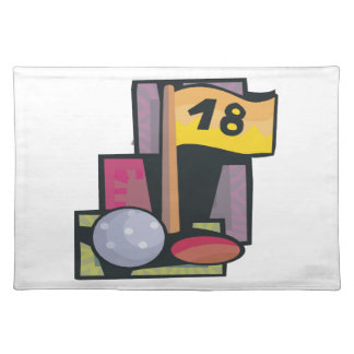 18 agujeros manteles individuales