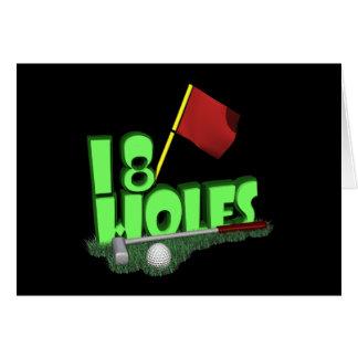 18 agujeros tarjetas