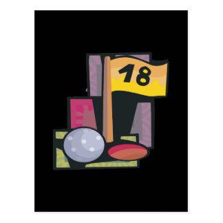 18 agujeros tarjeta postal