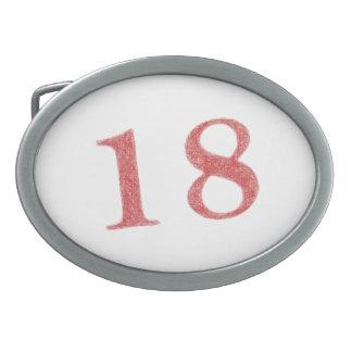 18 años de aniversario hebilla cinturón oval