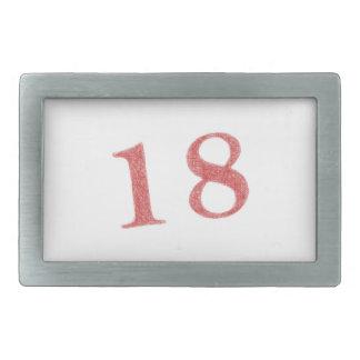 18 años de aniversario hebilla de cinturon rectangular