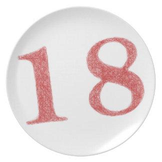 18 años de aniversario platos