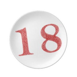 18 años de aniversario platos de cerámica