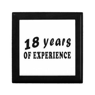 18 años de experiencia caja de regalo