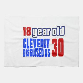 18 años disfrazados listo como 30 toallas de mano