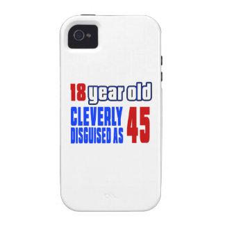 18 años disfrazados listo como 45 vibe iPhone 4 fundas