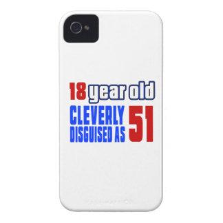 18 años disfrazados listo como 51 iPhone 4 funda
