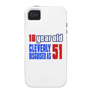 18 años disfrazados listo como 51 vibe iPhone 4 fundas