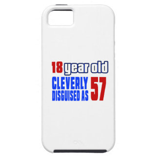 18 años disfrazados listo como 57 funda para iPhone 5 tough