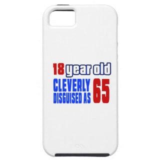18 años disfrazados listo como 65 funda para iPhone 5 tough