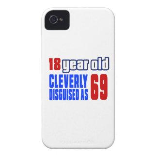 18 años disfrazados listo como 69 iPhone 4 Case-Mate carcasas