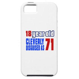 18 años disfrazados listo como 71 funda para iPhone 5 tough