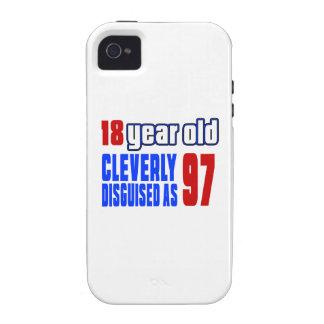 18 años disfrazados listo como 97 Case-Mate iPhone 4 fundas