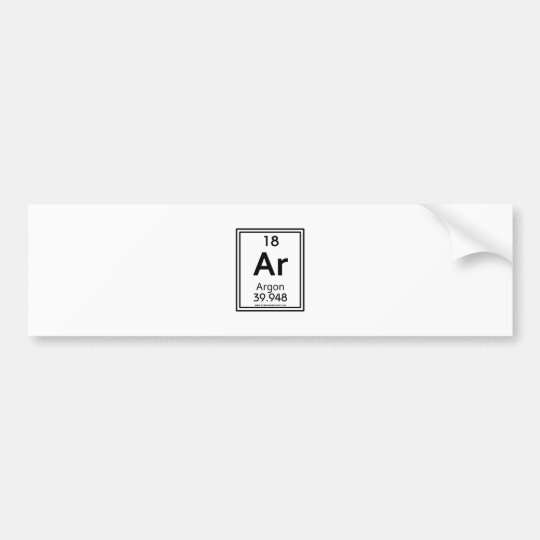 18 Argon Bumper Sticker
