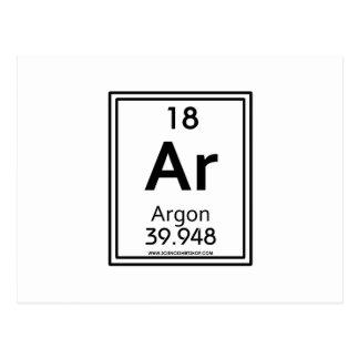 18 Argon Postcard