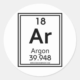 18 Argon Classic Round Sticker