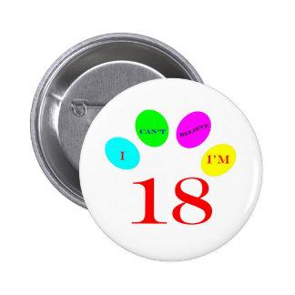 18 Balloons Pinback Button
