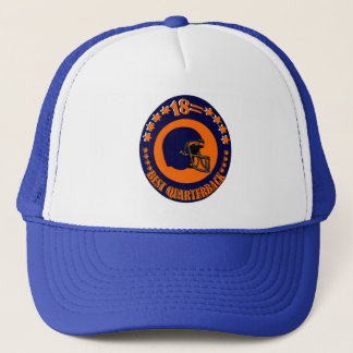 18 = BEST QUARTERBACK TRUCKER HAT
