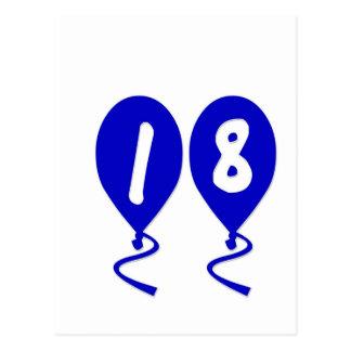 18 Birthday Balloons Postcard